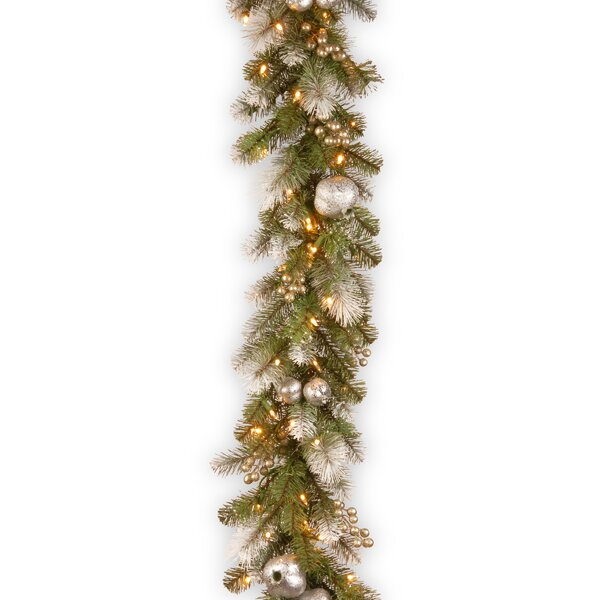 Pomegranate Glittery Pine Garland by The Holiday Aisle