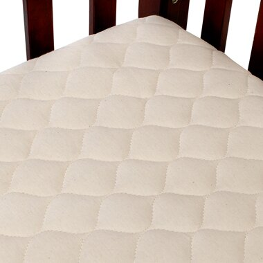 Quilted Portable Fitted Crib Mattress Pad by American Baby Company