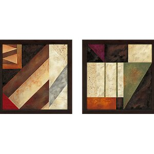 'Palermo IV' 2 Piece Framed Graphic Art Print Set Under Glass by Zipcode Design