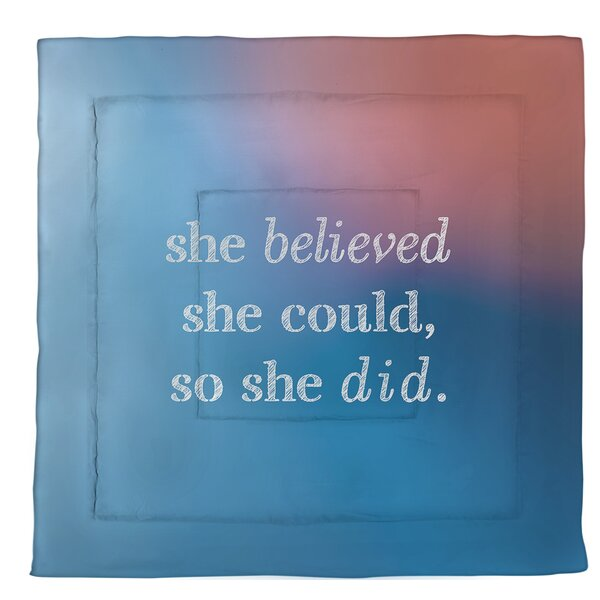 Women Empowerment Quote Single Reversible Comforter