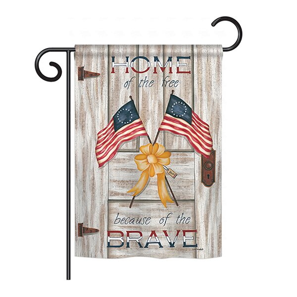Home of the Free 2-Sided Vertical Flag by Breeze Decor