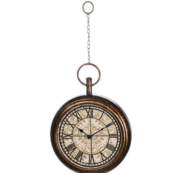 Albany Hanging Metal 10 Analog Wall Clock by Darby Home Co