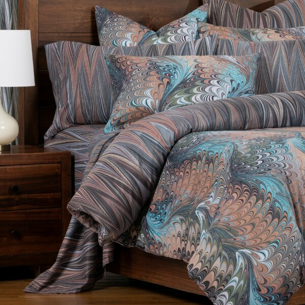 Alluvian Marbled Reversible Cal King Size Duvet Cover
