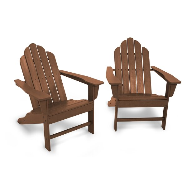 Long Island 2-Piece Plastic/Resin Adirondack Chair (Set of 2) by POLYWOOD POLYWOOD®