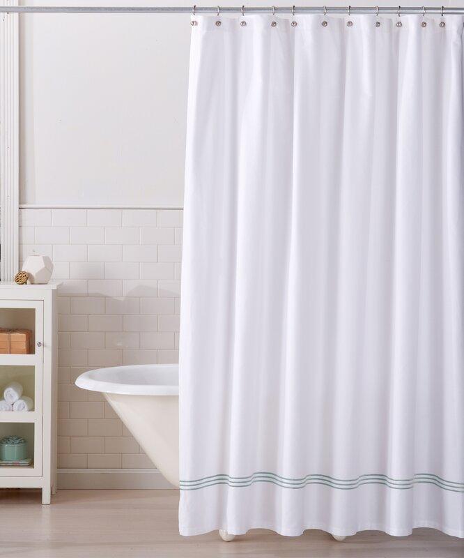 aurora 100 cotton shower curtain