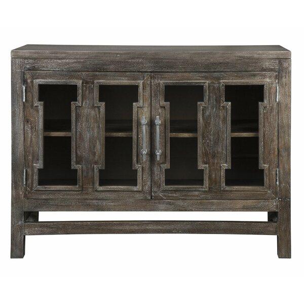 2 Door Wooden Accent Cabinet With Block Legs, Brown