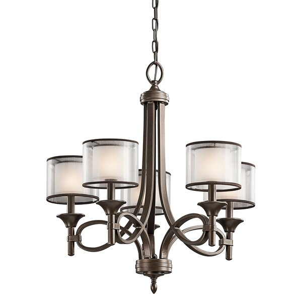 Lightle 5-Light Shaded Classic / Traditional Chandelier By Darby Home Co