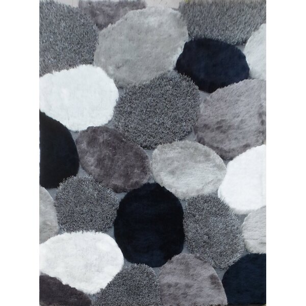 Hand-Tufted Gray/Navy Area Rug by Rug Factory Plus