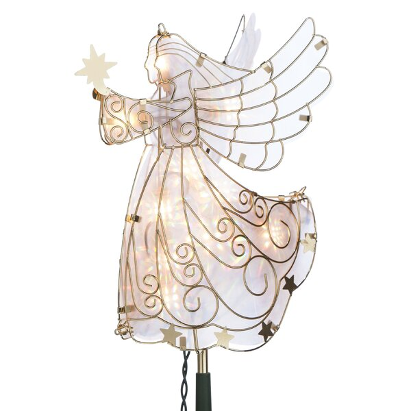 Electric Angel Tree Topper by Gerson International