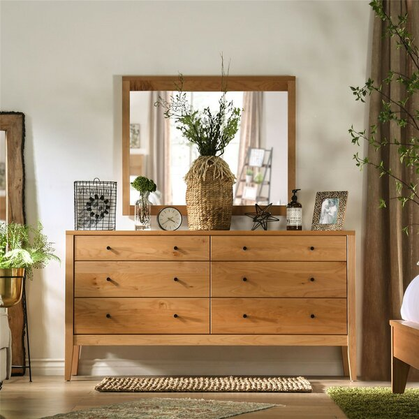 Bussey 6 Drawer Double Dresser with Mirror by Foundry Select