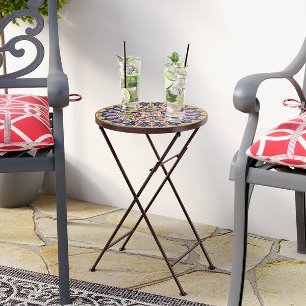 Rotherham Metal Side Table by Fleur De Lis Living