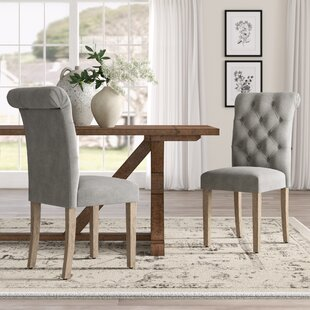 Marvelous Bushey Roll Top Upholstered Dining Chair Set Of 2 Gmtry Best Dining Table And Chair Ideas Images Gmtryco