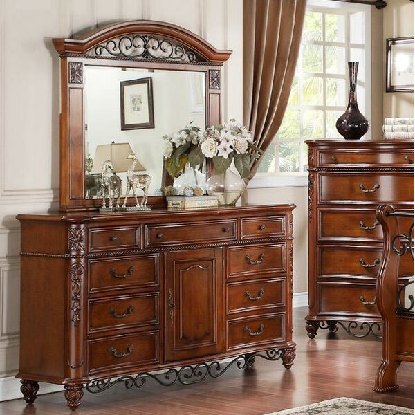 Milardo 9 Drawer Combo Dresser with Mirror by Astoria Grand