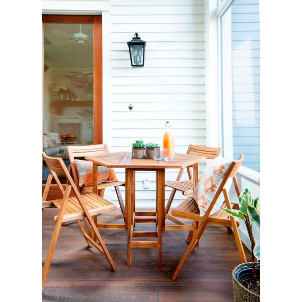 Geyer 5 Piece Dining Set by Ebern Designs