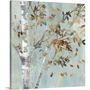 Birch with Leaves I by Allison Pearce Painting Print on Canvas by Great Big Canvas