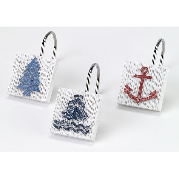 Lake Words Shower Curtain Hooks (Set of 12) by Avanti Linens