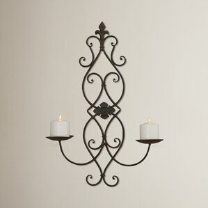 Metal Wall Sconce Candle Holder candle sconces you'll love | wayfair