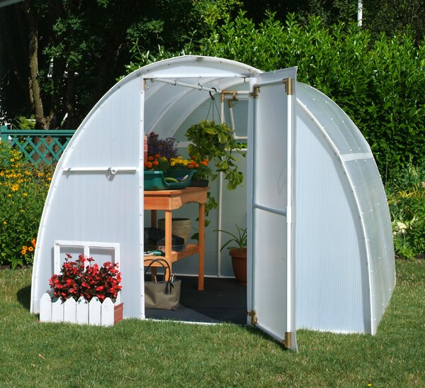 8 Ft. W x 8 Ft. D Greenhouse by Solexx