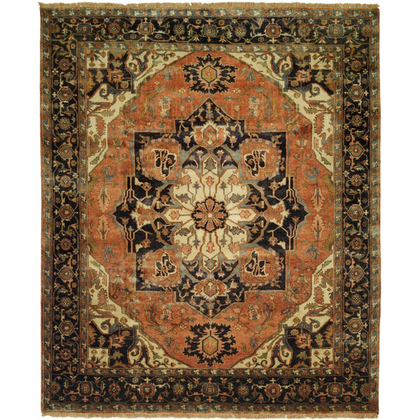 Jules Serapi Terracotta/Ivory Area Rug by Shalom Brothers