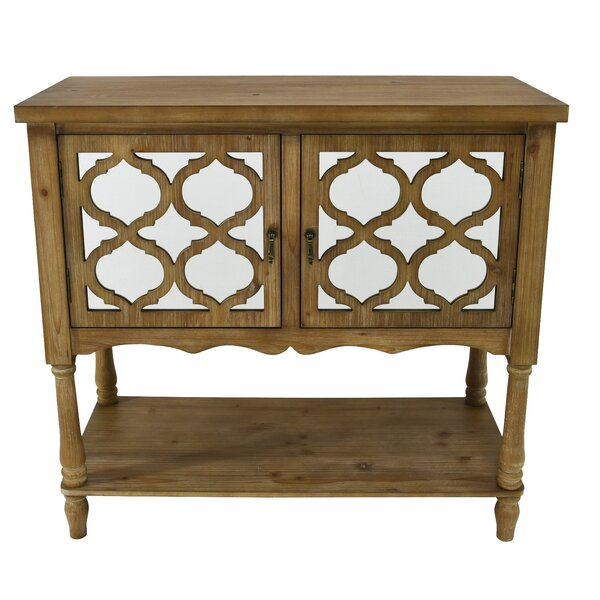 Oaklawn Trellis 2 Door Accent Cabinet by Bungalow Rose Bungalow Rose