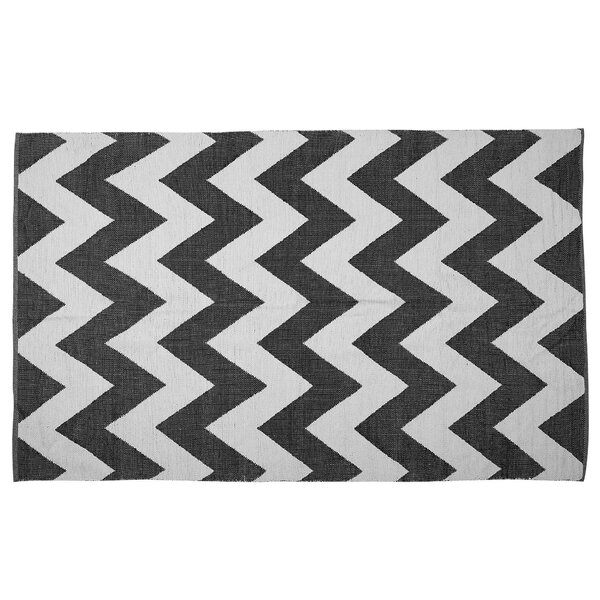 Yosef Handmade Kilim Black Indoor/Outdoor Area Rug