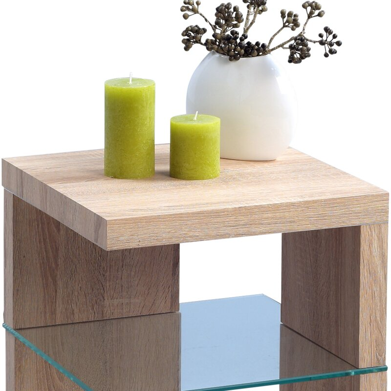 HomeTrends4You Domingo Side Table With Storage Amp Reviews