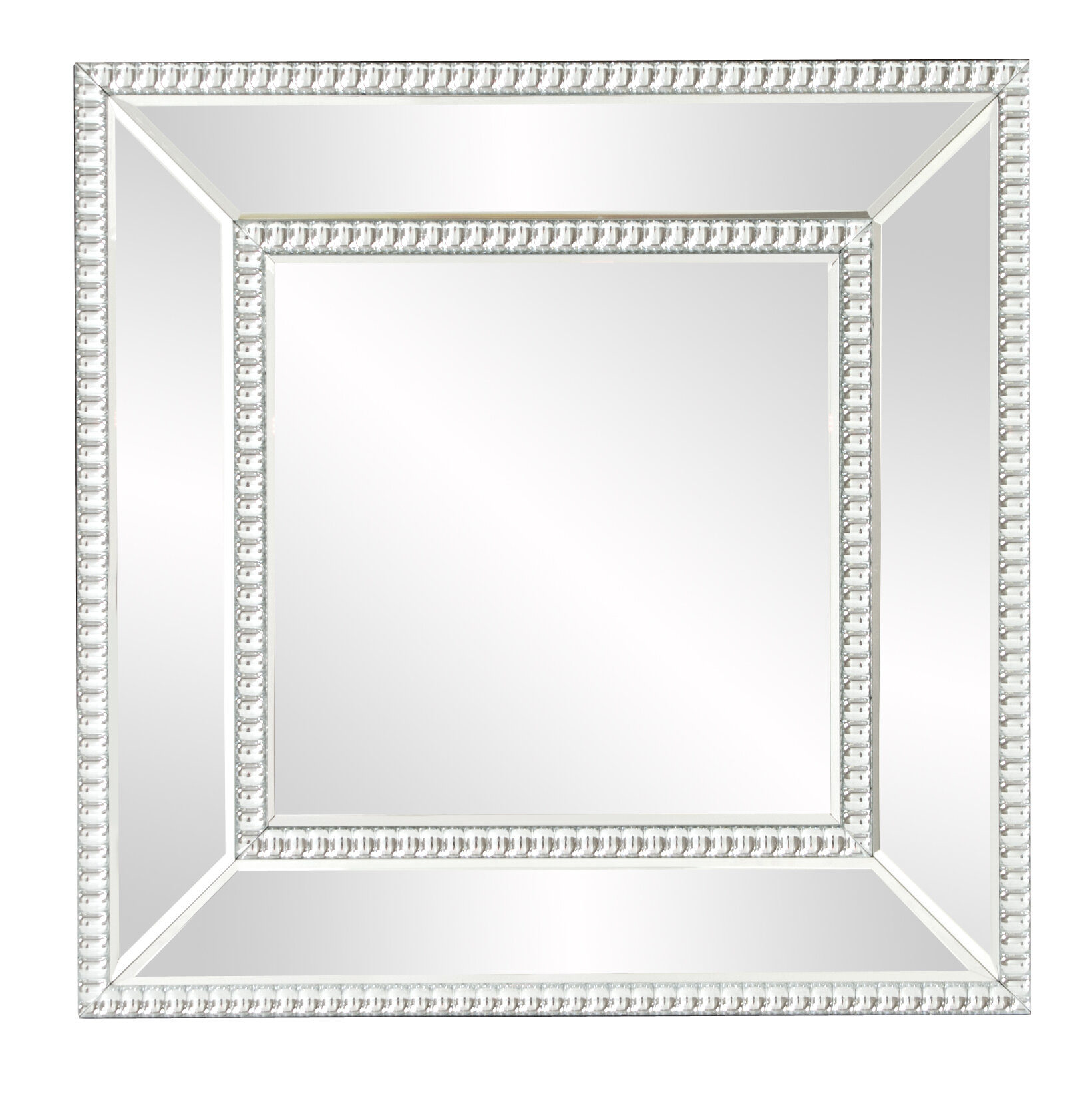 House of Hampton Mirrored Frame Wall Mirror | Wayfair