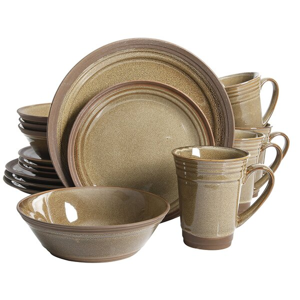 Chupp 16 Piece Dinnerware Set, Service for 4 by Fleur De Lis Living
