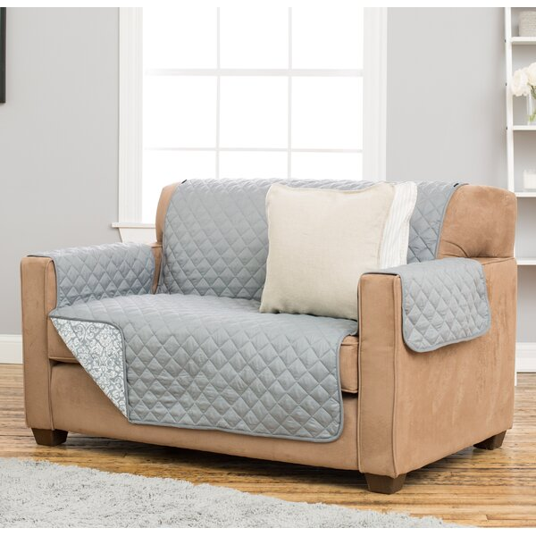 Katrina Box Cushion Loveseat Slipcover by Home Fashion Designs