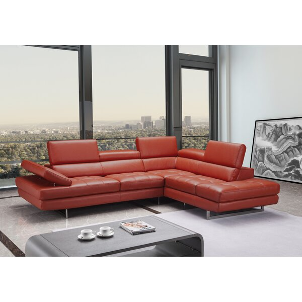 Carolyn Leather Sectional by Orren Ellis