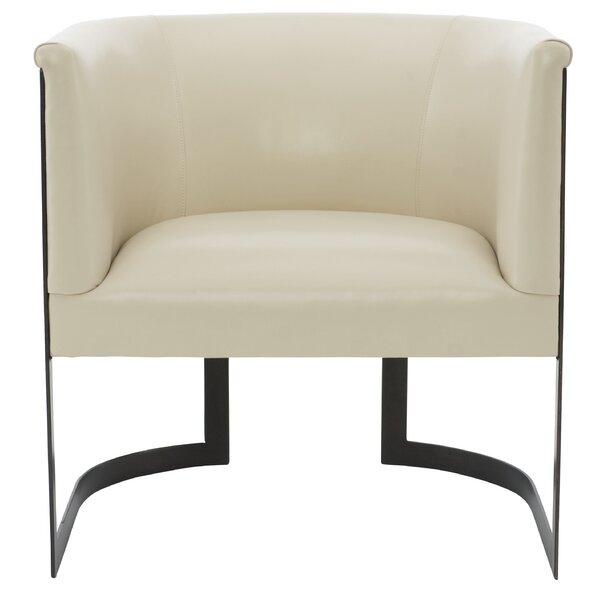Zola Leather Barrel Chair By Bernhardt