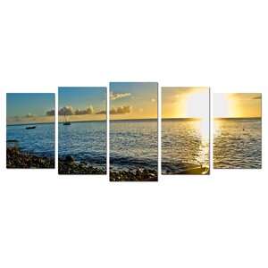 'Sunset' 5 Piece Photographic Print on Canvas Set by Zipcode Design