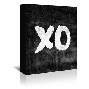 XO Paint Textual Art on Wrapped Canvas by Americanflat