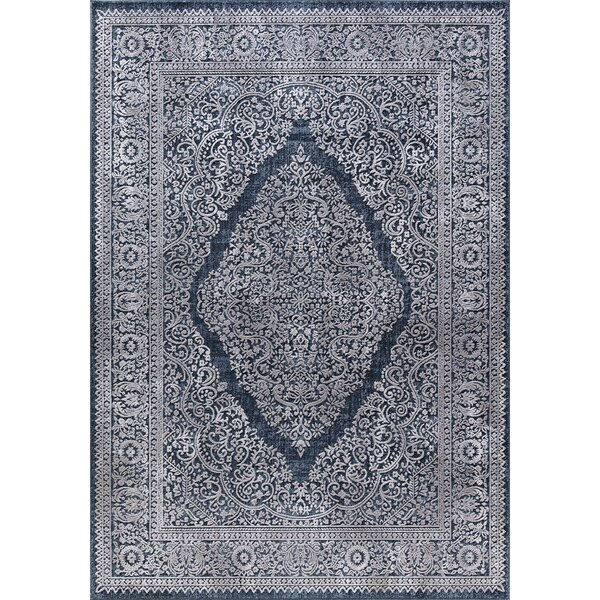 Rearick Navy Area Rug by Bloomsbury Market