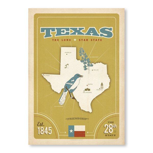 State Pride Print: Texas Vintage Advertisement by East Urban Home