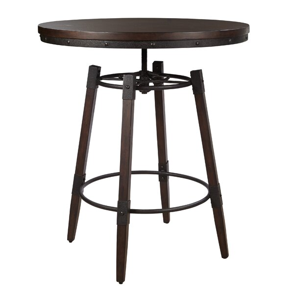 Bingaman Adjustable Bar Table by Williston Forge