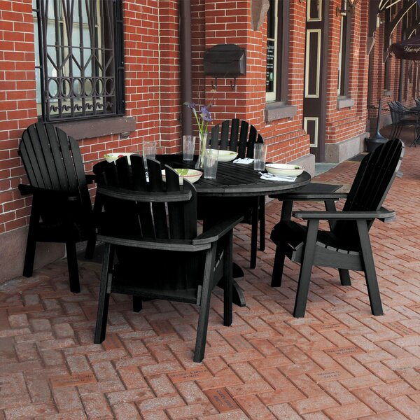 Nicolette Commercial Grade Adirondack 5 Piece Dining Set by Rosecliff Heights