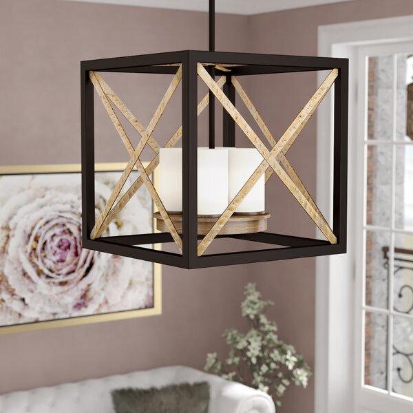 Eimear 4 - Light Unique / Statement Rectangle / Square Chandelier by Willa Arlo Interiors Willa Arlo Interiors