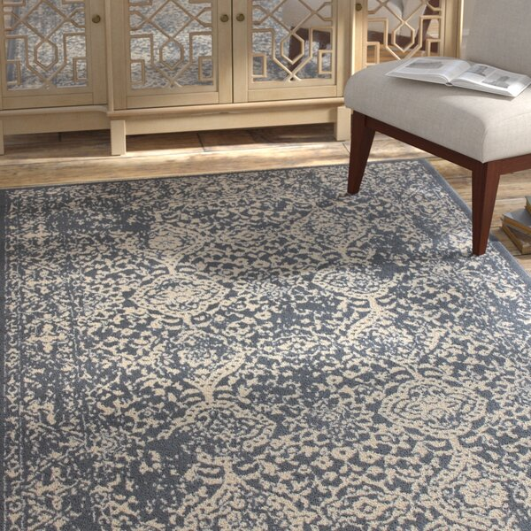 Bonner Gray/Cream Area Rug by Bungalow Rose
