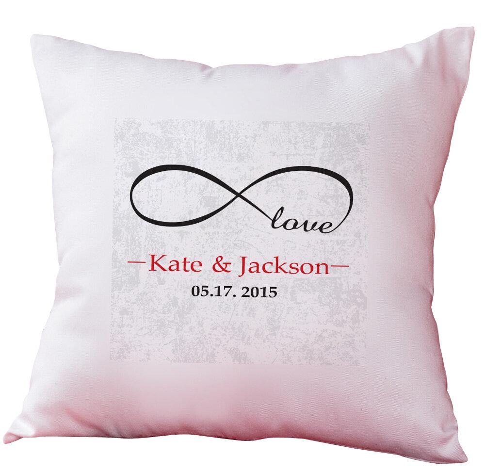Monogramonline inc personalized infinity love decorative cushion monogramonline inc personalized infinity love decorative cushion cover wayfair altavistaventures Images