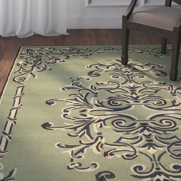 Orr Hand-Hooked Sage Area Rug by Astoria Grand