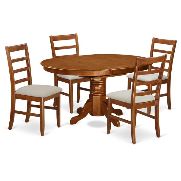 Emmaline 5 Piece Dining Set by Alcott Hill