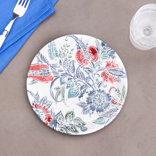 Marietta Melamine Salad Plate (Set of 6) by Birch Lane™