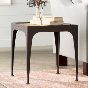 Juno End Table by 17 Stories