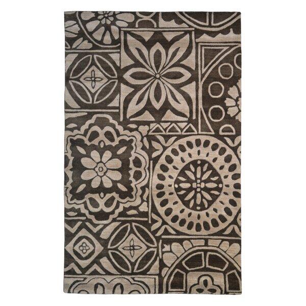 Wool Floral Hand-Tufted Brown/Beige Area Rug by Eastern Weavers