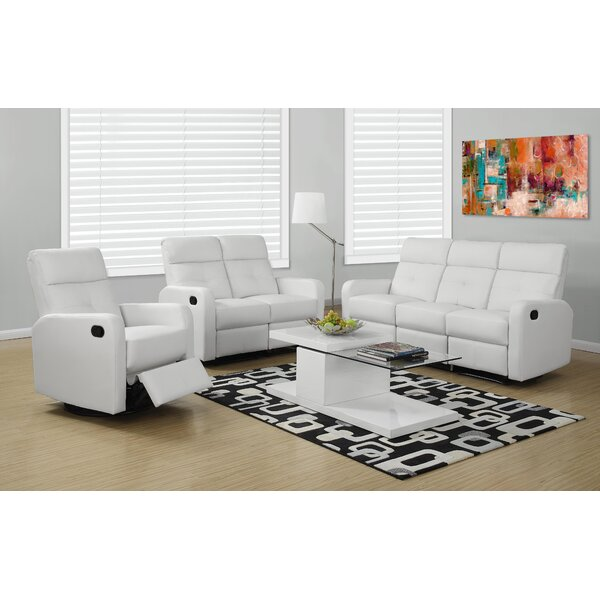 Configurable Reclining Living Room Set by Monarch Specialties Inc.