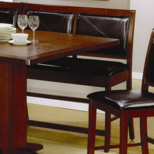 Est Counter Height Dining Corner Faux Leather Bench (Set of 2) by Red Barrel Studio