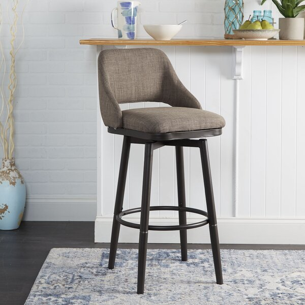 Nalston Adjustable Height Bar Stool by Wrought Studio