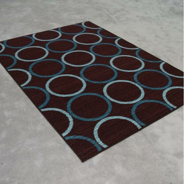Midkiff Blue/Brown Area Rug by Orren Ellis