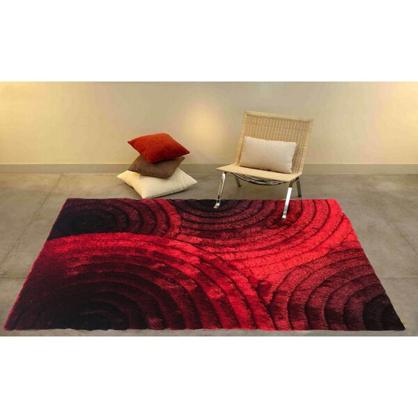 Kleo Red/Black Area Rug by Blazing Needles